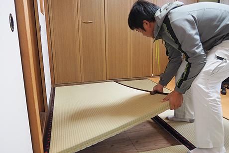 畳の回収・設置