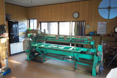 豊倉たたみ店 畳製作工場
