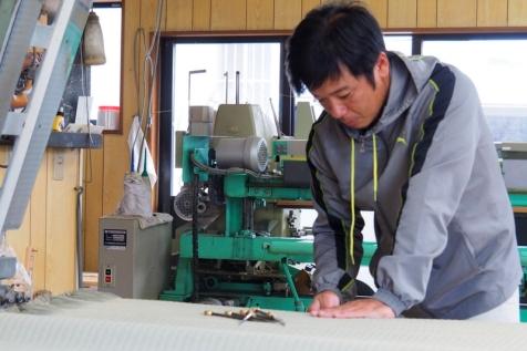 畳の製作風景